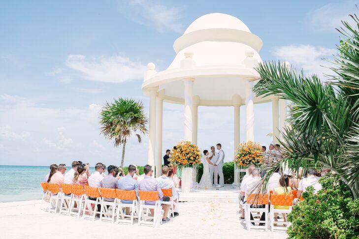 a beach destination wedding at grand palladium resort