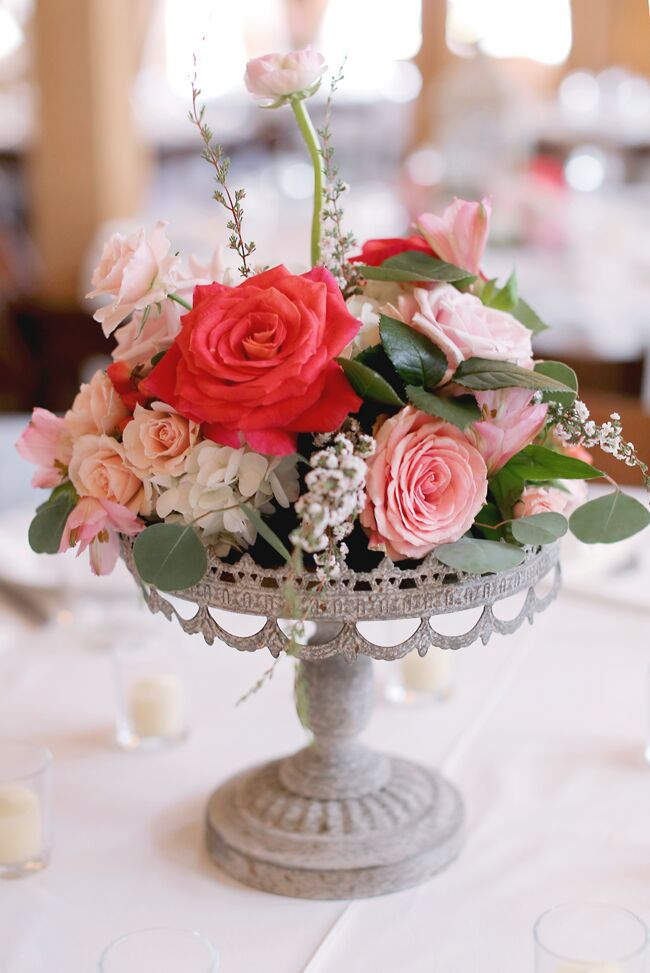 Whimsical Pink Floral Centerpiece