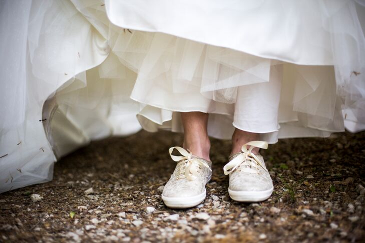 Sparkly Champagne Keds Bridal Shoes