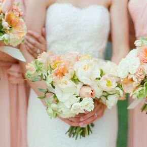 Peach Garden Rose And Tulip Bouquets