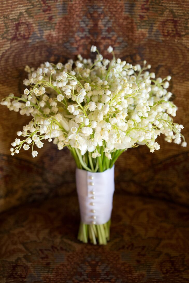 Lily of the valley all white bouquet izmirmasajfo