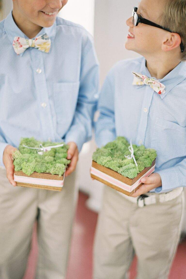 Ring bearers with rings