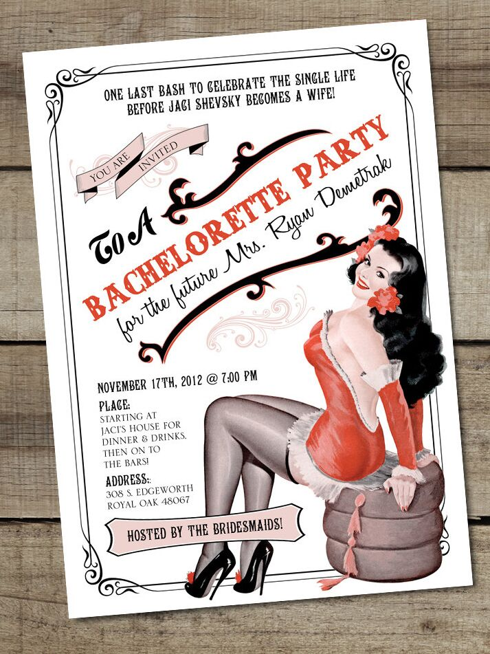 14 Printable Bachelorette Party Invitation Templates – Bachelorette Party Invitation Templates