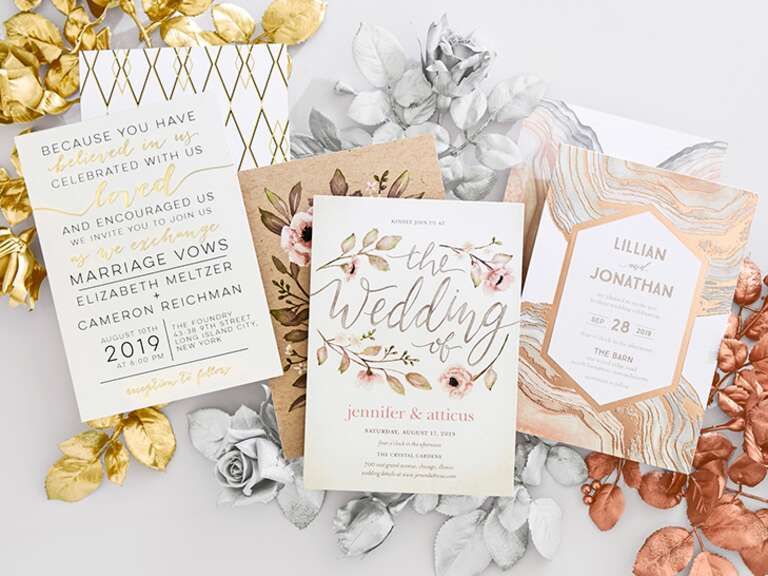 Wedding invitations ideas advice 5 ways to coordinate your wedding stationery junglespirit Image collections