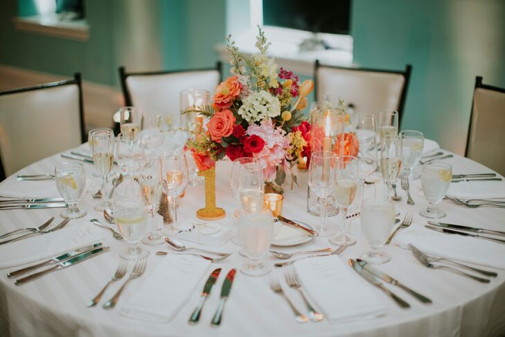 Colorful Classic Rose Peony And Tulip Centerpieces