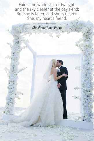 Shoshone Love Poem wedding ceremony reading