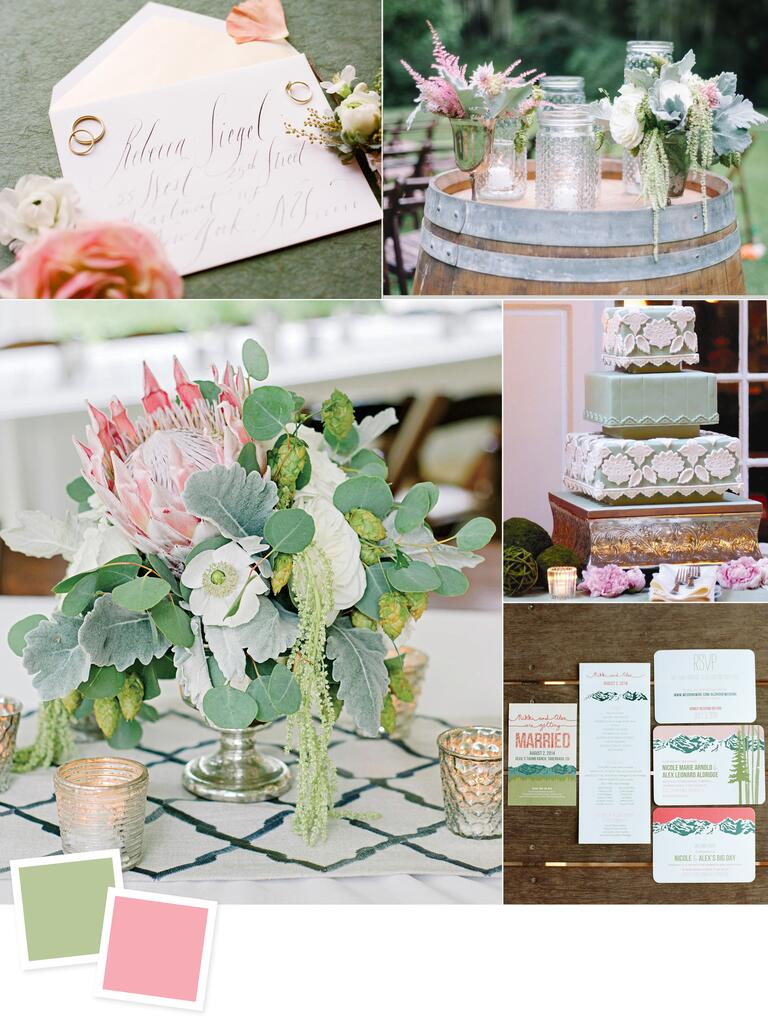 Sage and peony wedding colors