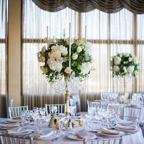 Rose And Hydrangea Candelabra Centerpieces