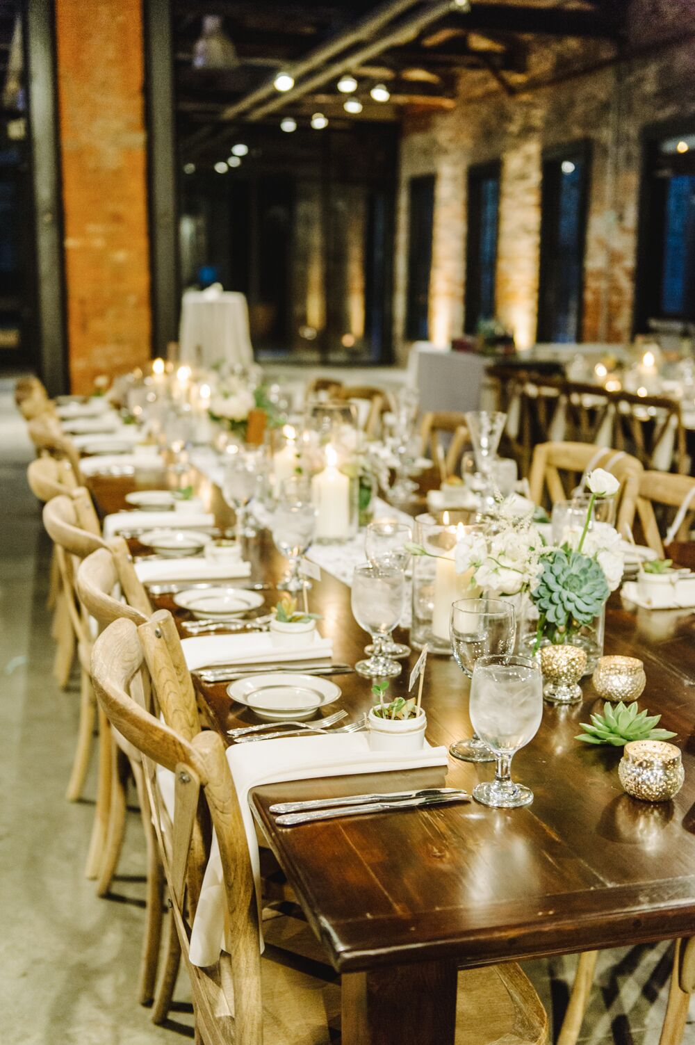 Long Wooden Farm Dining Tables