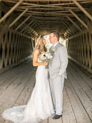 couple under bridge
