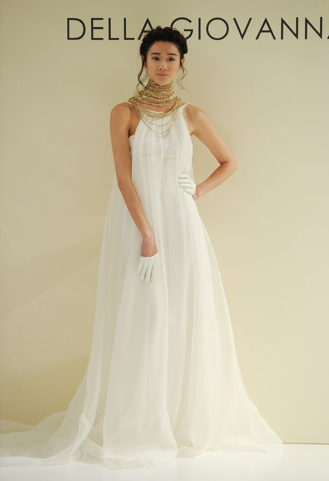 Della Giovanna Fall Wedding Dress Collection Includes Gold