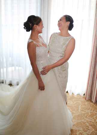 bride and mother of the bride | Cristina Elena Photography | Blog.theknot.com