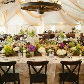 Tented Western Reception & Rustic Wedding Tents