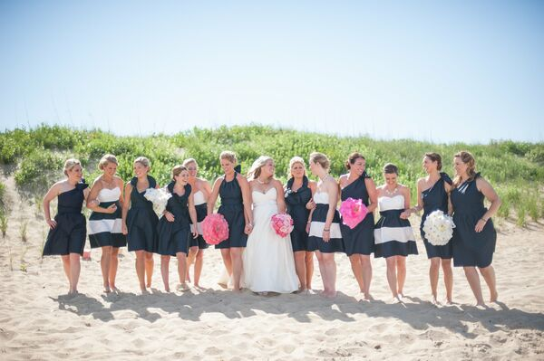 Mixed Lula Kate Navy Bridesmaid Dresses