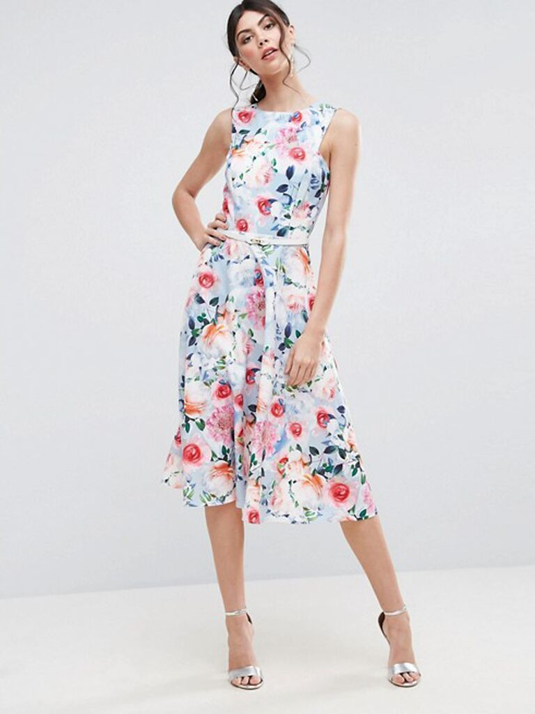 15 floral dresses perfect for summer wedding guests for Summer dresses for wedding