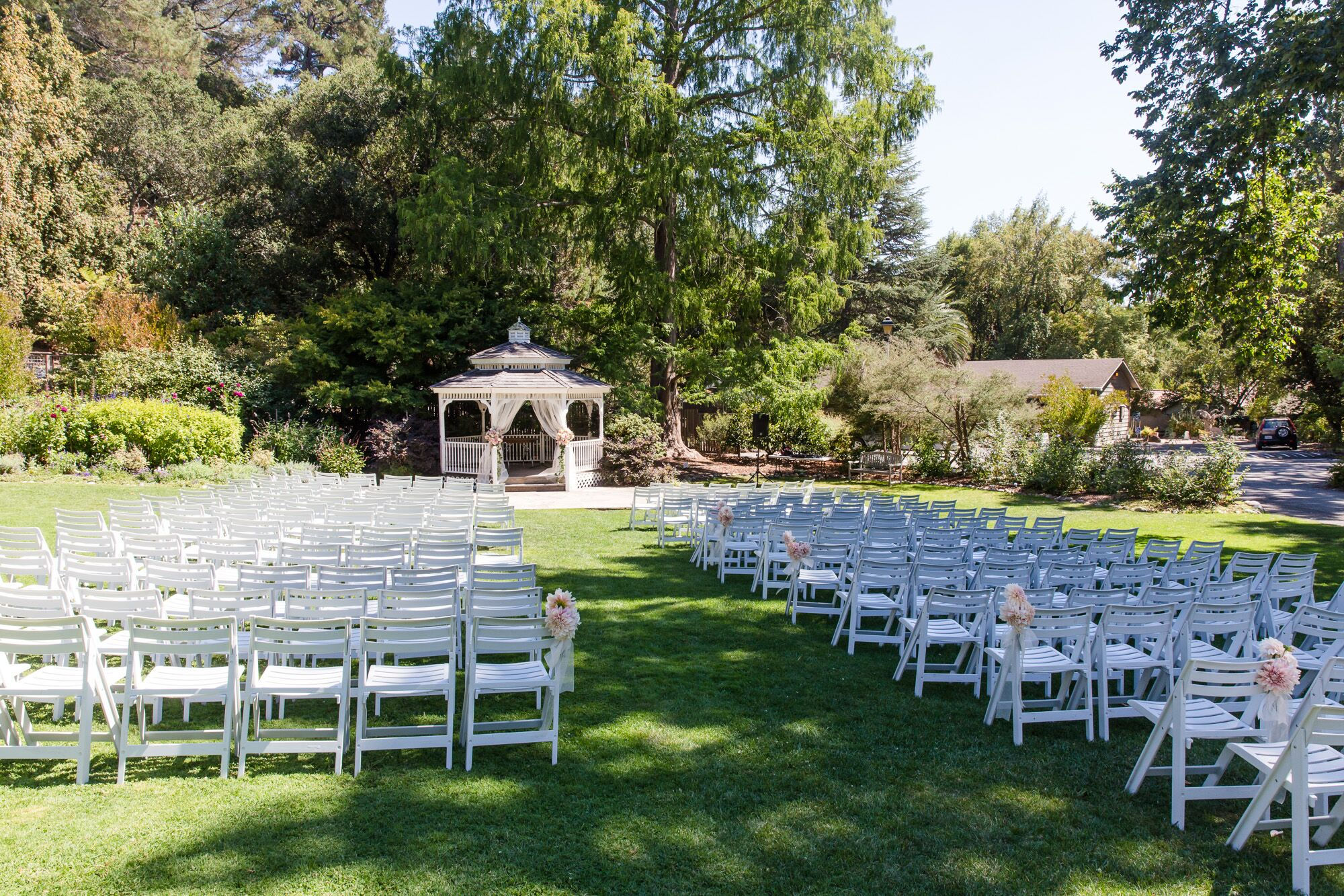 Outdoor Wedding Ceremony With Folding Chairs