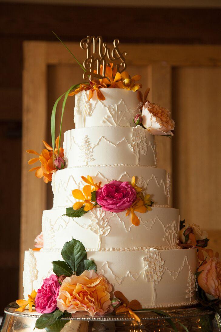 A Pink And Orange Mountain Wedding At Jackson Lake Lodge
