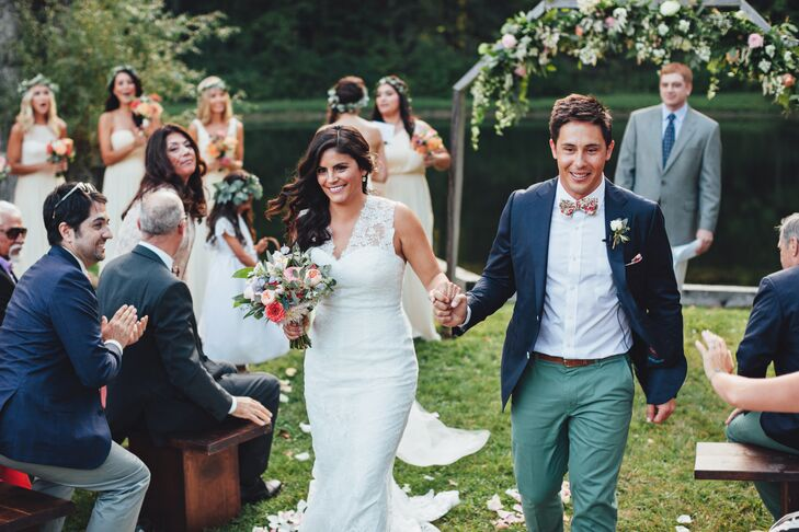 Outdoor Pond Wedding Ceremony
