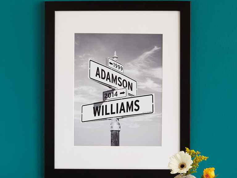 Uncommon Goods Intersection of Love Photo personalized wedding gift