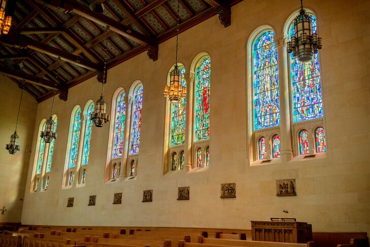 Chapel with Stained Glass Windows