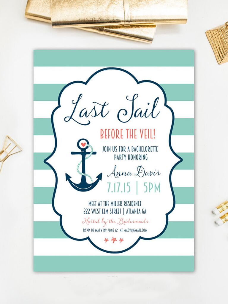 14 printable bachelorette party invitation templates nautical bachelorette party printable invitaiton template stopboris Images