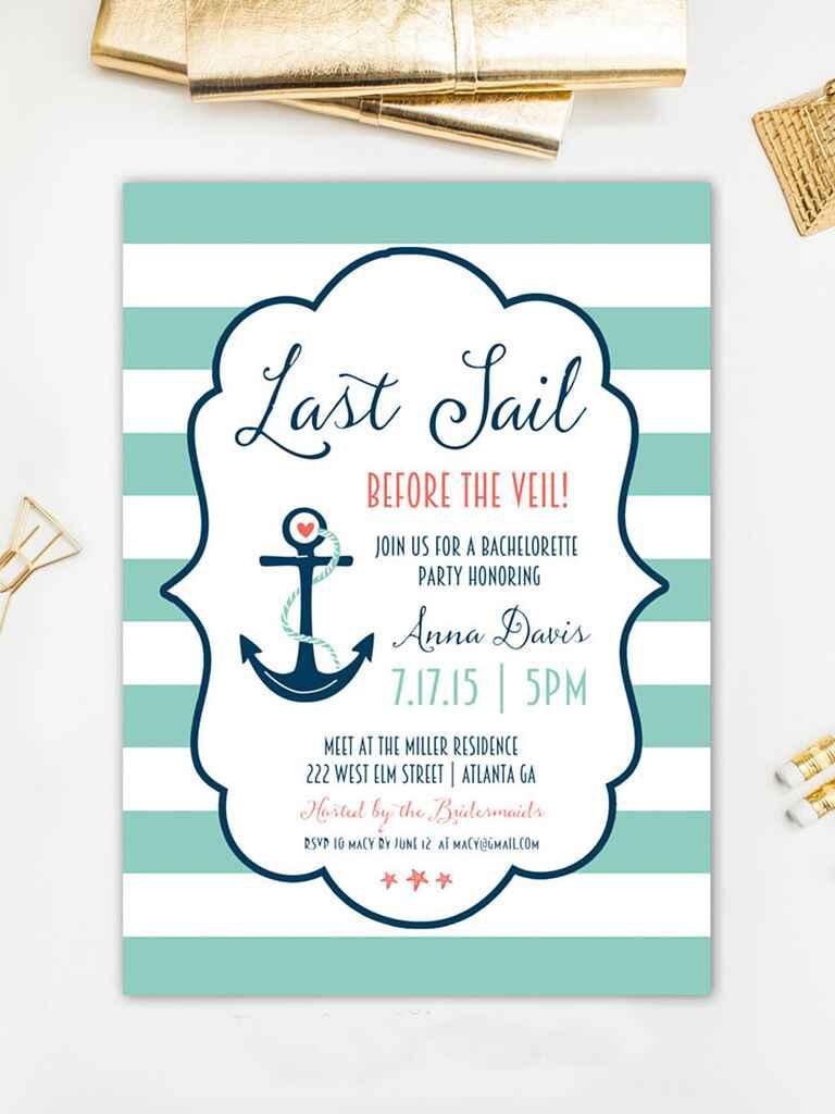14 Printable Bachelorette Party Invitation Templates