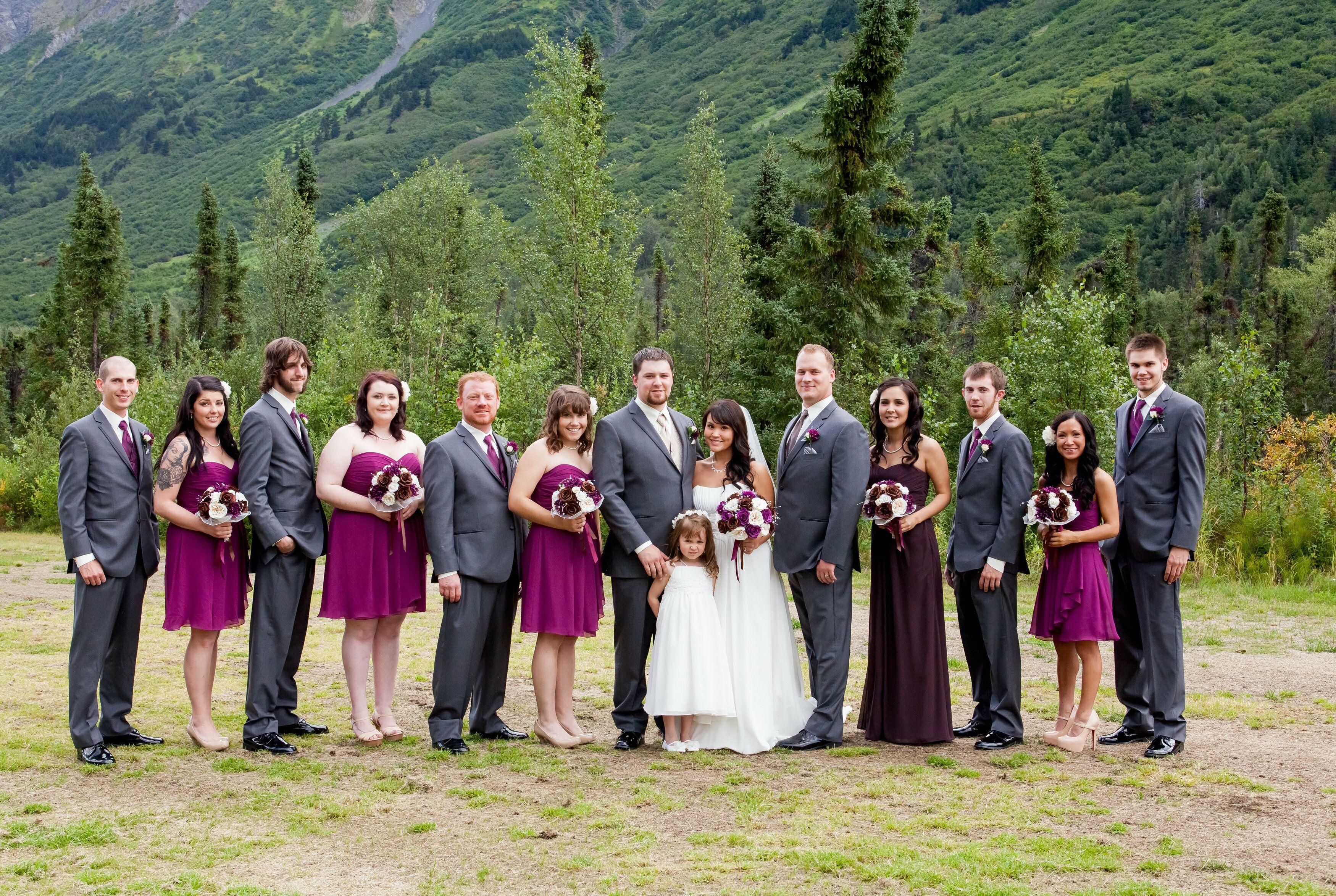 lilac bridesmaid and groom - HD3500×2348