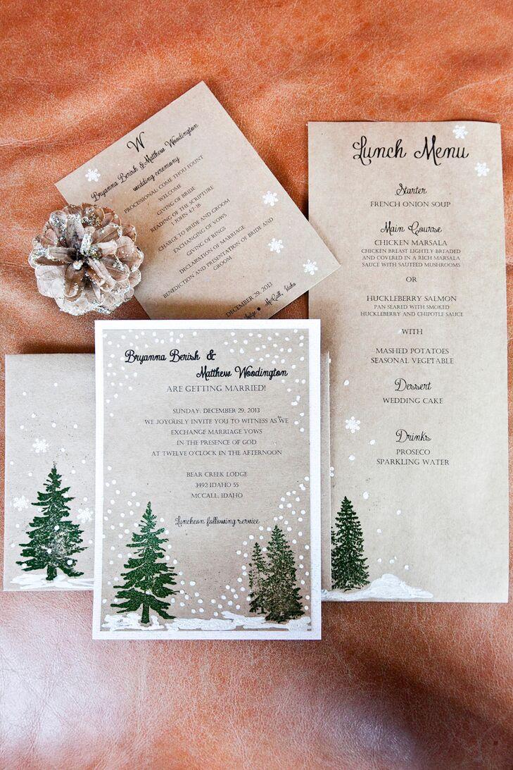 DIY Rustic Winter-Inspired Invitation Suite