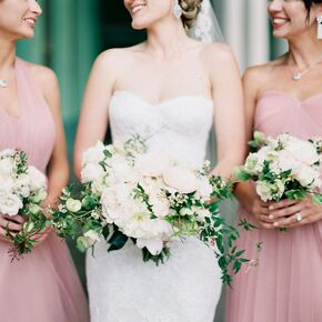 Cascading Garden Rose And Greenery Bouquet