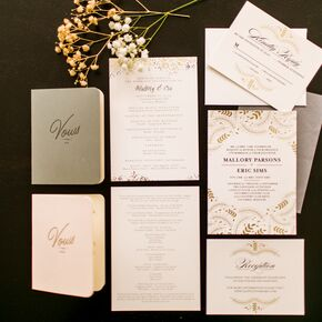 Glam Gold Autumnal Wedding Invitations