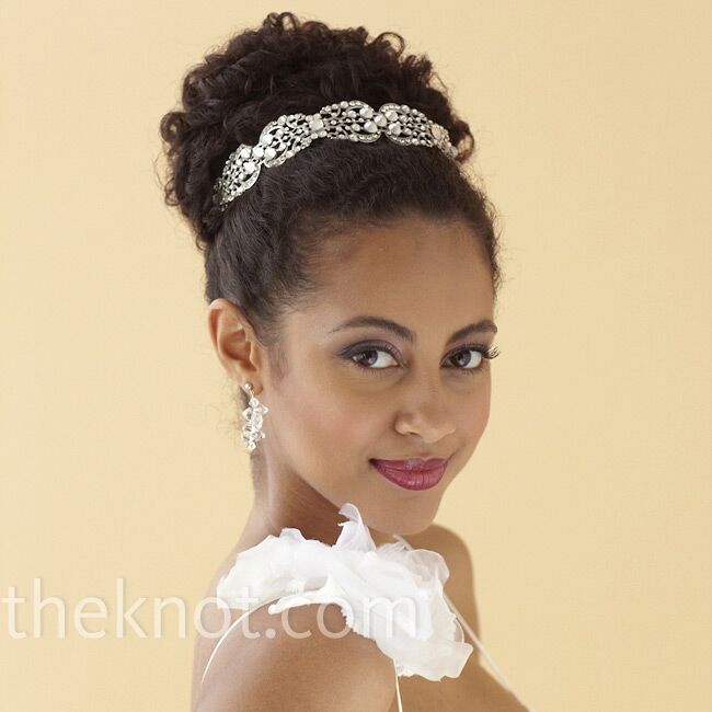 curl updo wedding hairstyle