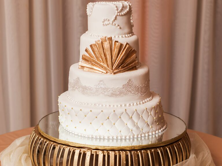 Bejeweled wedding cake
