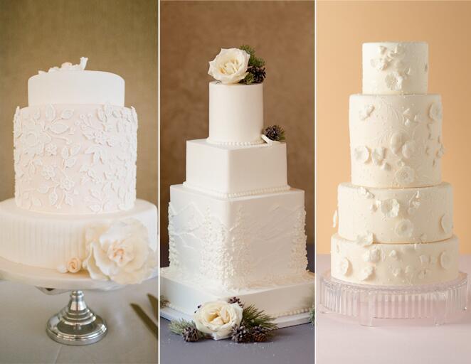 White wedding cake trend
