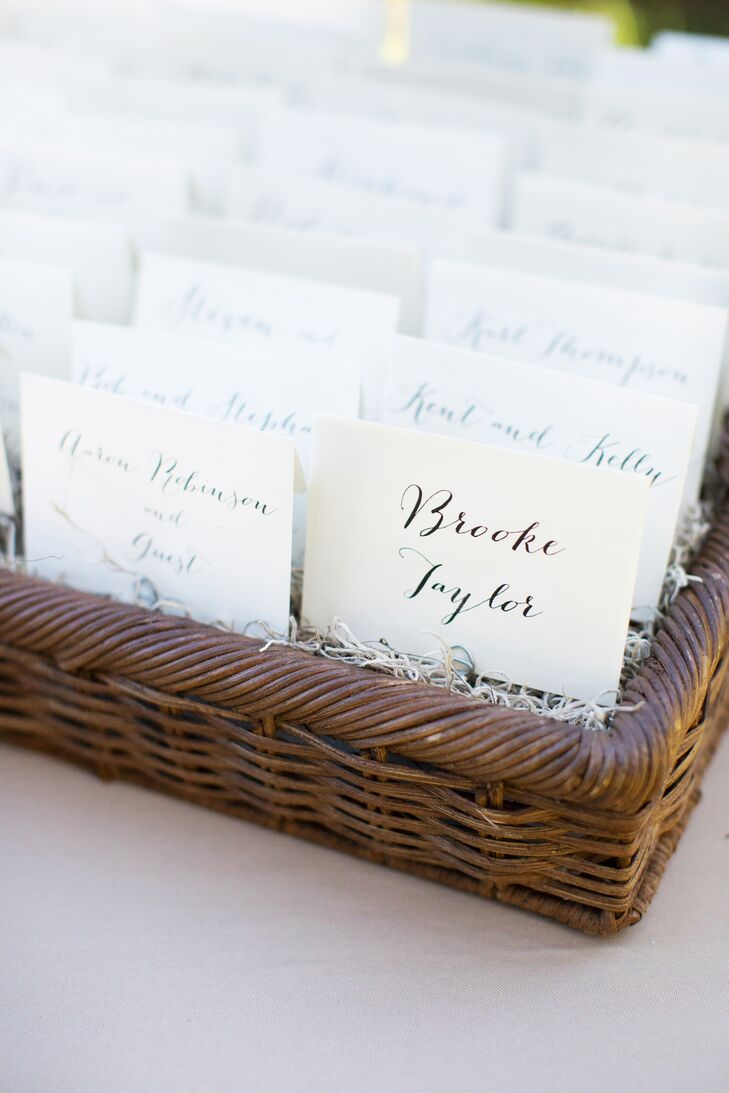 Simple, Chic Black-and-White Wedding Escort Cards
