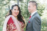 Tahini Moitra and Adam Essiambre planned an Indian-Canadian fusion affair for their early fall wedding with clean lines and a color palette of burgund