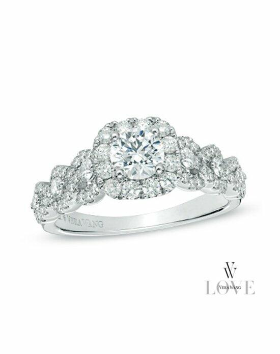 Vera Wang LOVE at Zales Vera Wang LOVE Collection 1-1/4 CT. T.W. Diamond Frame Engagement Ring in 14K White Gold  19752930 Engagement Ring photo