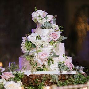 Rustic wedding cakes rustic garden inspired wedding cake junglespirit Images