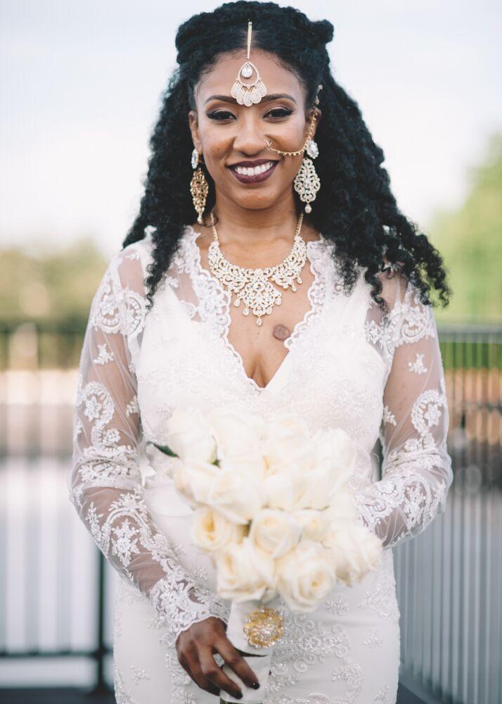 Custom Lace Wedding Gown