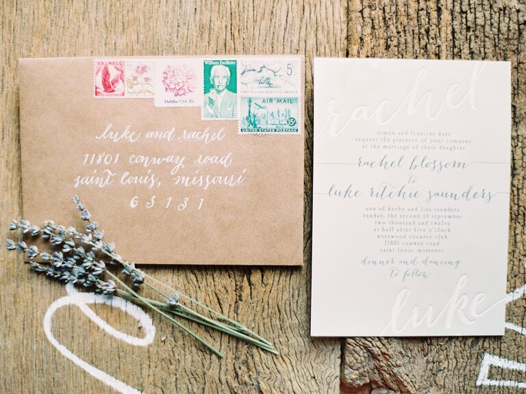 Recycled invitation paper