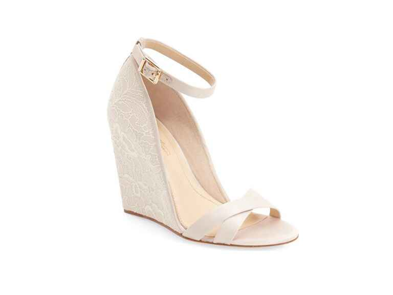 Ivory Wedding Wedge Heels: 42 Best Wedding Wedges You Can Buy Now
