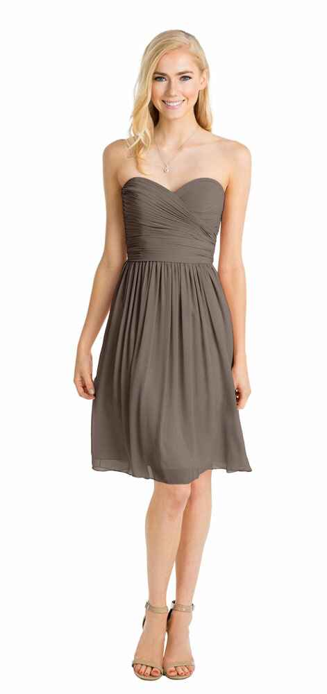 grey bridesmaid dress by Watters
