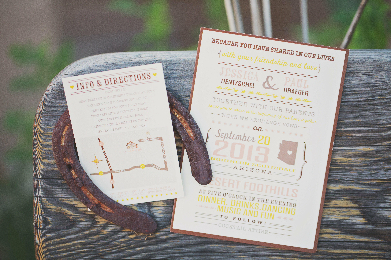 Wedding Invitations Az: Modern Arizona Themed Invitations