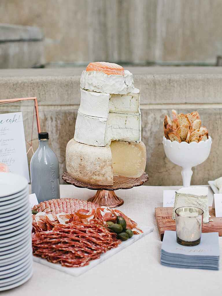 Food ideas for a creative wedding reception menu idea