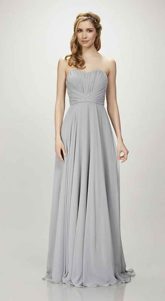 grey bridesmaid dress by Theia