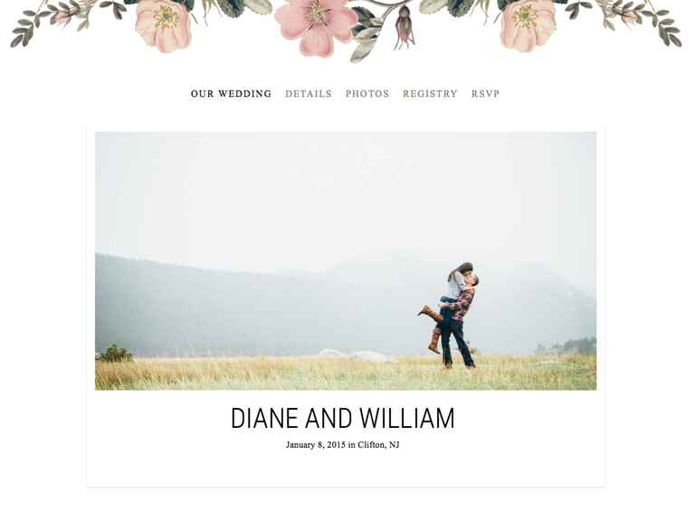 Custom wedding website design