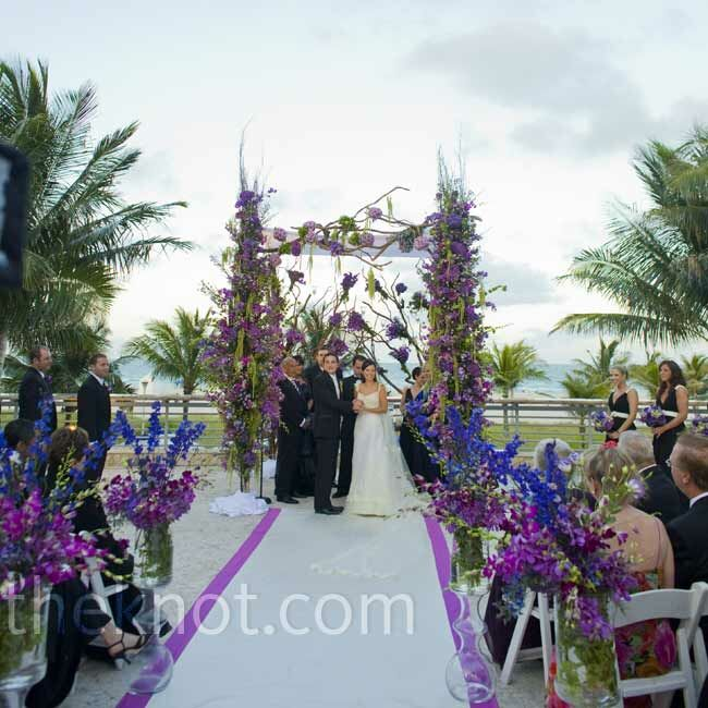 Mint Color Outdoor Ceremony Decorations: An Outdoor Wedding In Miami Beach, FL