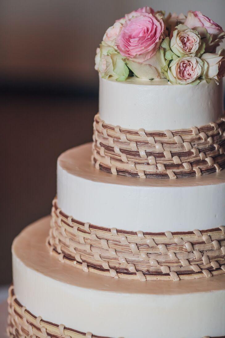 Woven Wicker Wedding Cake Decor