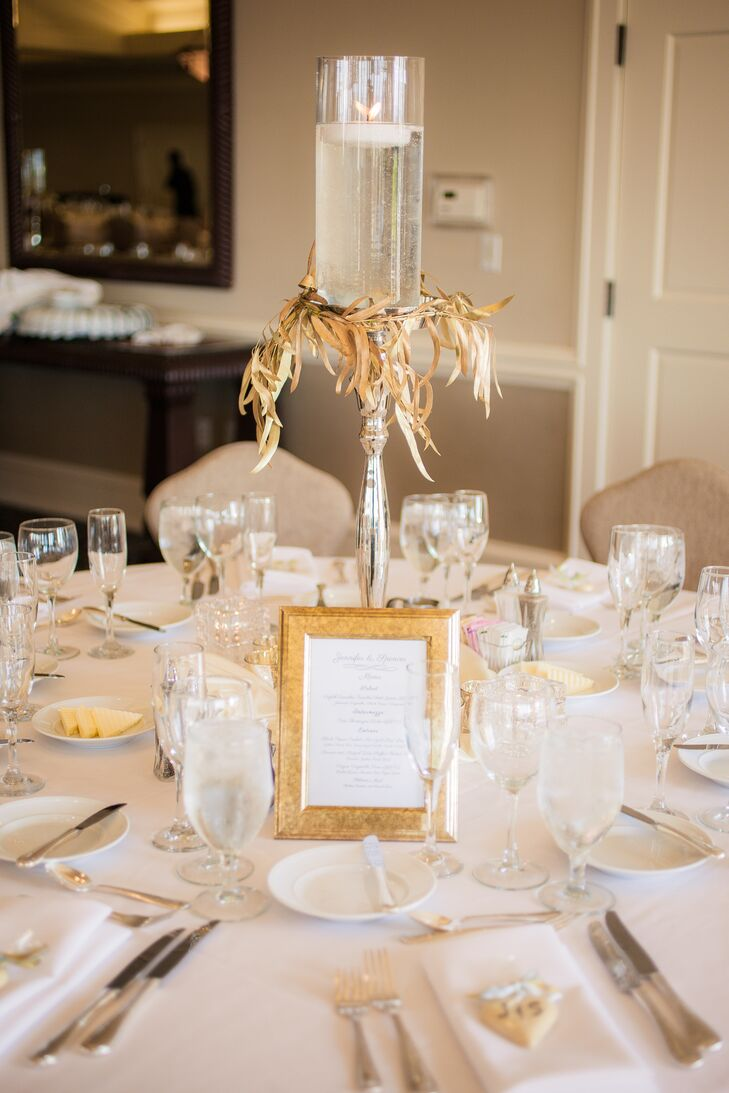 & Gold and Ivory Dining Table Setting