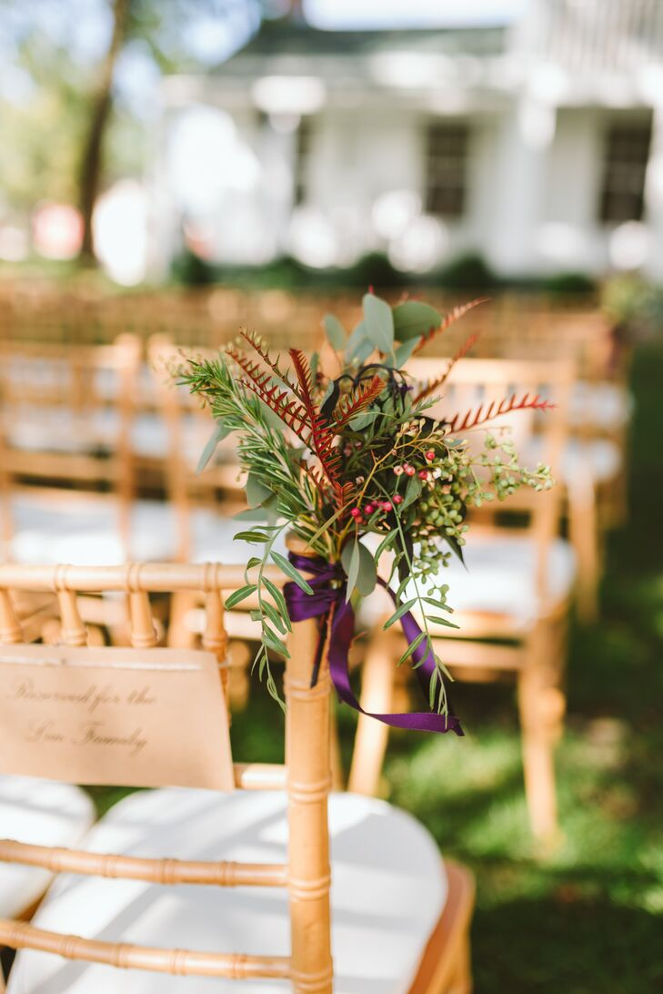 Natural Greenery Aisle Decorations