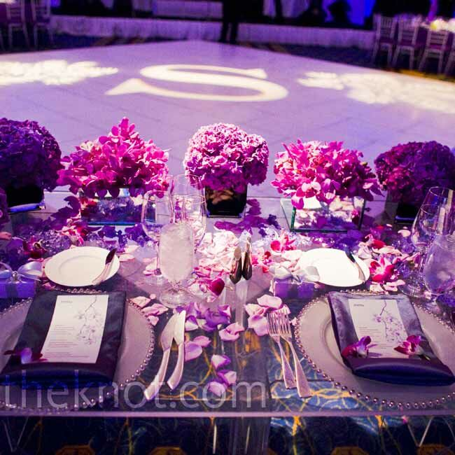 purple wedding decorations for sale purple sweetheart table 6913